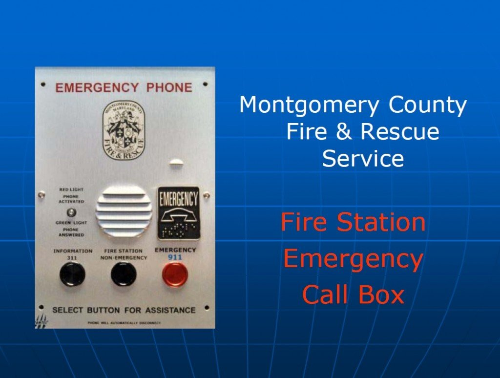 Montgomery County Fire & Rescue to upgrade call boxes at Fire Stations