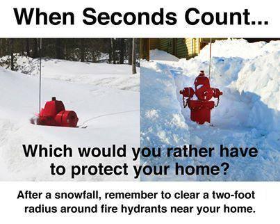 Fire hydrant snow