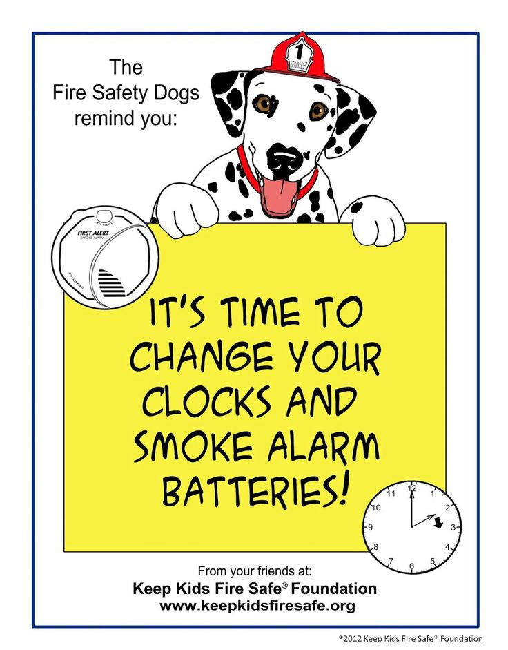 March 12th spring forward and give new life to your smoke detector and give it a new battery !