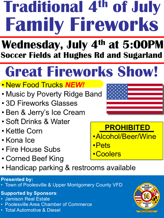 Poolesville Traditional Fireworks