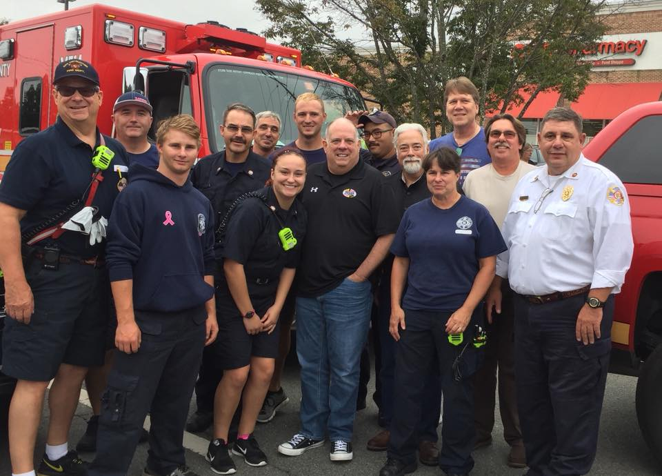 Company 14 with Maryland's Governor Hogan